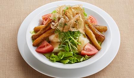 シャキシャキ水菜のお豆冨サラダ